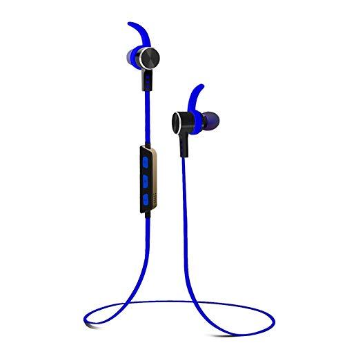 Auriculares Bluetooth inálambrico Magnéticos in ear, Alitoo Cascos Deportivos de reducción de ruido con micrófono y manos libres Headphone estéreo para Smartphones (Azul)