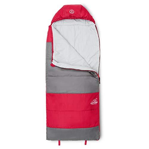 JUSTCAMP Melvin Junior Kinderschlafsack Camping, Deckenschlafsack Kinder