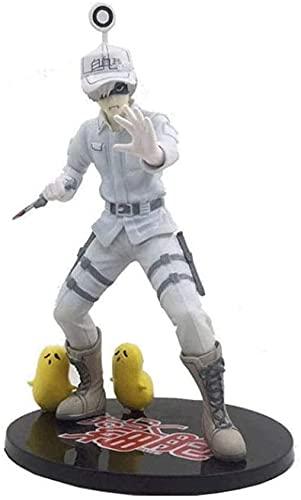 XJXJ-Hataraku Saibou Figura de personaje de leucocitos Células en el trabajo Figura de personaje - 8.26 Pulgadas Figura de juguete modelo de regalo, modelo de PVC