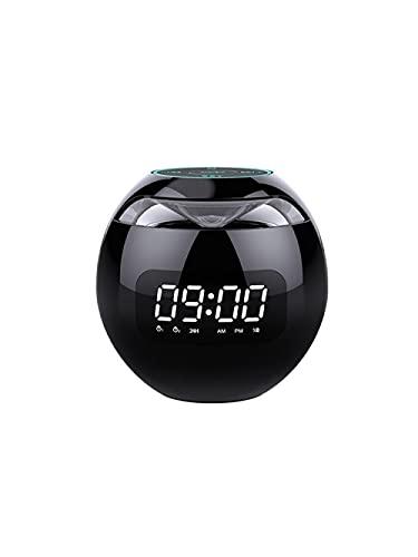 ALEAR Altavoz Bluetooth Multifuncional 3 en 1. Mini Reloj De Reloj Y Altavoz de AutomóViles Y Radio de Radio para Despertar El Reloj de Alarma del NiñO Noche Escritorios Dormitorio-versión Inglesa