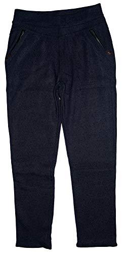m.g.fashion Thermo Damen Hose, Treggins, gefüttert, BLAU/dunkelgrau (meliert W1850-blau), Gr.48 (= Hersteller 5XL/6XL)