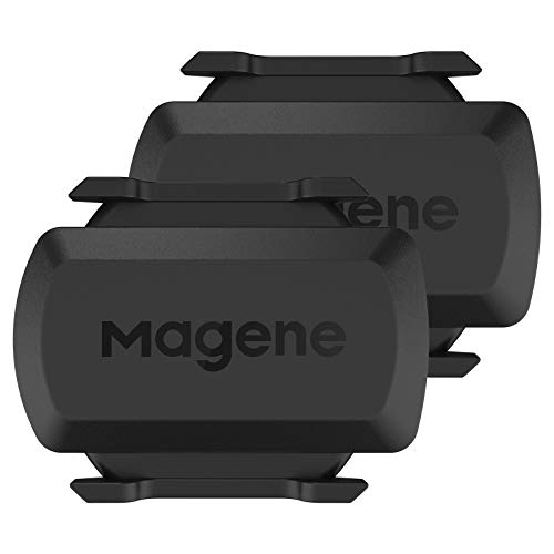 Magene Outdoor Speed/Cadence Sensor for Cycling, Wireless Bluetooth/Ant+ Bike Computer RPM Sensor, Compatible with Wahoo Fitness, Strava