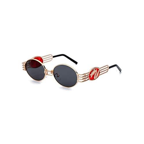 ZYQXI Sonnenbrillen Designer Sonnenbrille für Männer und Frauen Dragon Emblem Mode Sonnenbrille Oval Klassische Schattenlinse Sport Radfahren Angeln Golf Outdoor Sonnenbrille