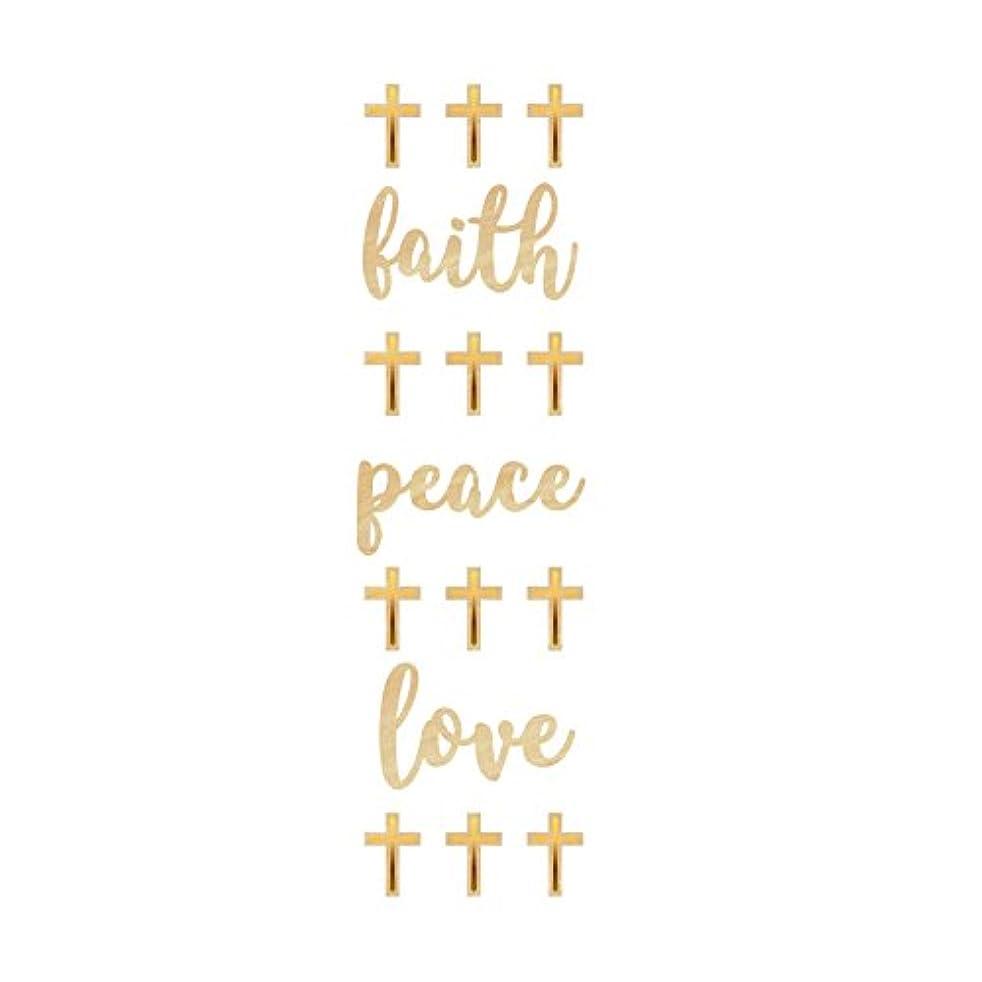 Momenta Crosses Faith Mini Wood Stickers