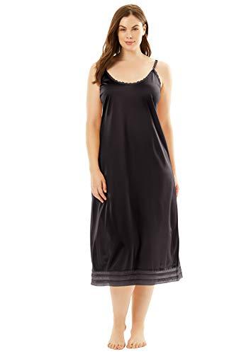 Comfort Choice Women's Plus Size Snip-To-Fit Dress Slip - 3X, Black