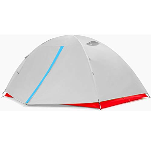 2-3 Personen Kuppelzelt DIY Wigwam Doppelschicht Doppel Aluminium Pole Easy Quick Setup leichte tragbare wasserdichte Wild Mountain Outdoor Camping Wandern Orange (Farbe : Gray)