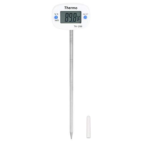 Fdit Schermo LCD Display Sonda in Acciaio Inossidabile Termometro per Alimenti Digitale Termometro per Barbecue Esterno Strumento per la misurazione della Temperatura degli Alimenti