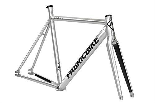 FabricBike Light - Telaio per Biciclette Fixie, Fixed Gear, Single Speed, Telaio e Forcella in Alluminio, 5 Colori, 2.45 g (Taglia M) (Light Polished, M-54cm)
