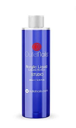 Liquido Acrilico Monomero 200ml Studio. Secado: Medio-Rápido. El Liquido Acrilico perfecto para Centros de uñas.