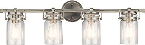Kichler 45690NI Brinley Vanity, 4-Light 300 Total Watts, Brushed Nickel