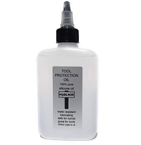Aceite de silicona puro Mjolnir para herramientas, 100 ml, 100% aceite de silicona sin aditivos, ideal para herramientas seguras para las manos, también se utiliza para arte de verter acrílico