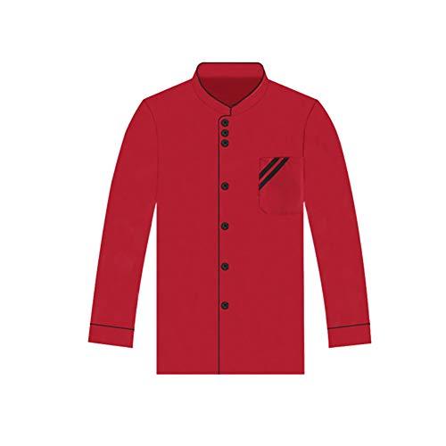 Centraliain 1Pc Chef Uniform Unisex Einreiher Langarm Chef Coat Arbeitsuniform Kochkleidung Schwarz XXL