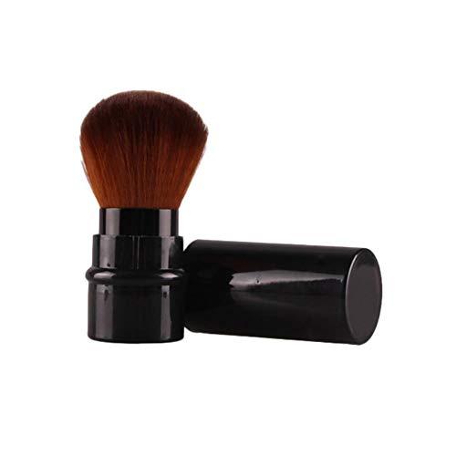 Pelloy1SPink Pinceau de maquillage télescopique pour les yeux Pinceau de maquillage professionnel en fibre pour ombre à paupières, fard à paupières, correcteur