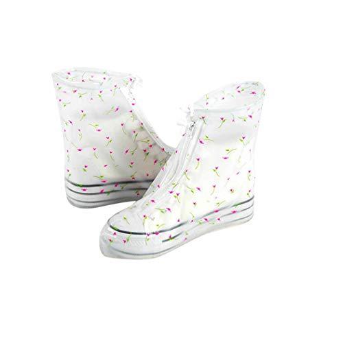 QHYY Waschbarer Schuhüberzug Kleine Florale Silica Gel Regenstiefel Sand Control Rutschfester Fußsatz