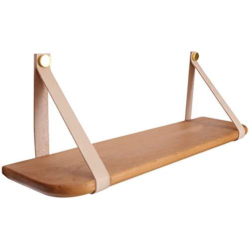 Kersenhouten plank, massief houten plank, onzichtbare riem aan muur, geschikt voor woonkamerdecoratie, keuken, badkamer, winkel 400 * 150mm
