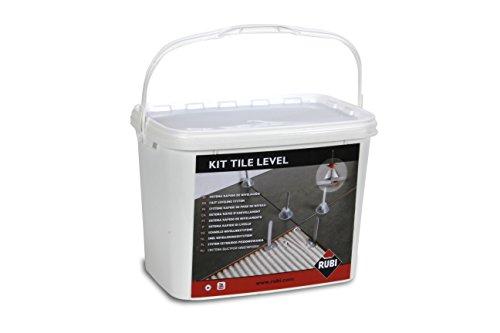 Sistema di livellamento Tile Level Starter Set 100X campana, 100X cinghia tracolla, Pinza, in un secchio