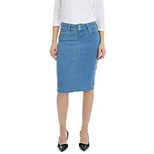 Women's Denim Pencil Skirt – Knee Length – Stretch Jean