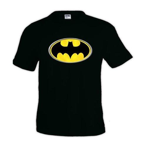 Mx Games Camiseta Logo Batman (Reliev) (Talla: TallaXS Unisex Ancho/Largo [49cm/62cm] Aprox)