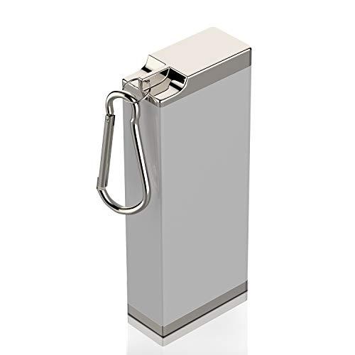 携帯灰皿 灰皿 アッシュトレイ ポータブル シルバー