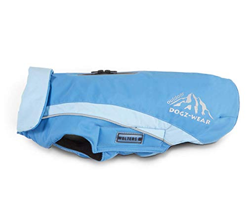 Wolters Dogzwear Skijacke Hundejacke Hundemantel Hundewinterjacke mit wasserdichtem RV Azur blau/Sky Blue