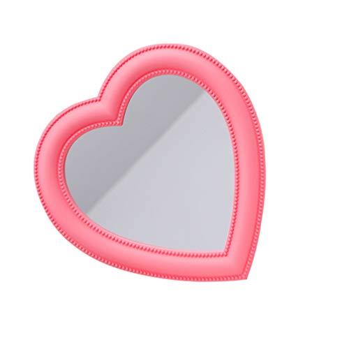 BESPORTBLE Herz Make-Up Spiegel Herz Geformter Spiegel Tisch Kosmetikspiegel Wandspiegel Kosmetikspiegel