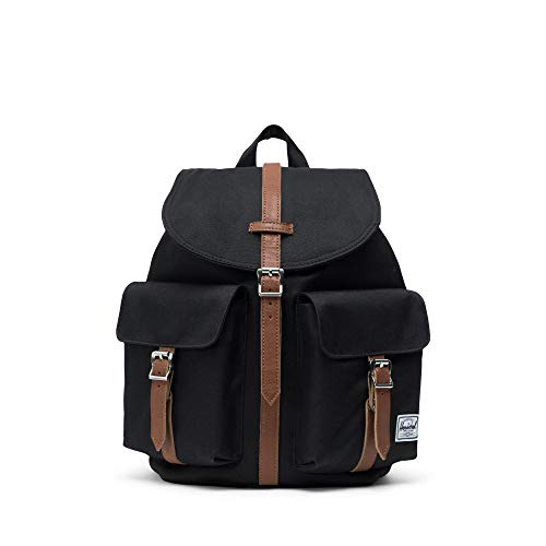 Herschel 10301-00001 Dawson Small Black/Tan Synthetic Leather