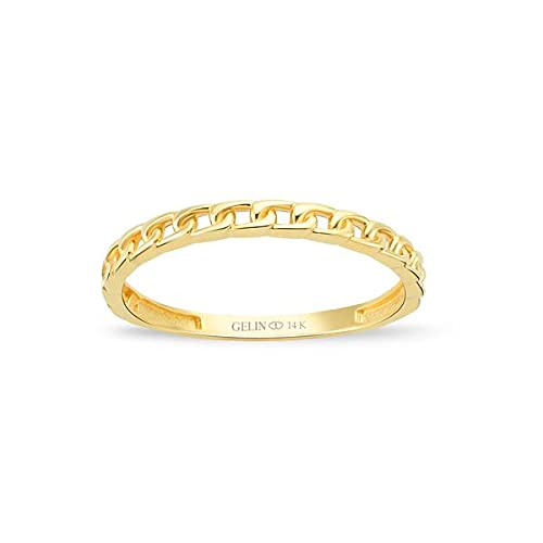 GELIN Eternity Celtic Knot Wedding Band in 14k Solid Gold | Anniversary Ring for Women | Stacking Rings Jewelry - Size 6