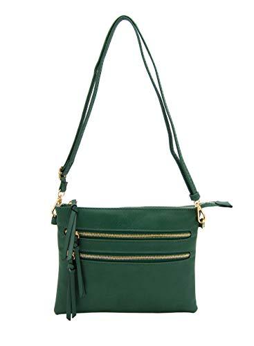 Isabelle Functional Women's Crossbody Shoulder Bag (Dark Green)