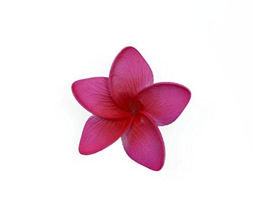 Hawaii Luau Party Dance Artificial Foam Plumeria Hair Clip in Hot Pink