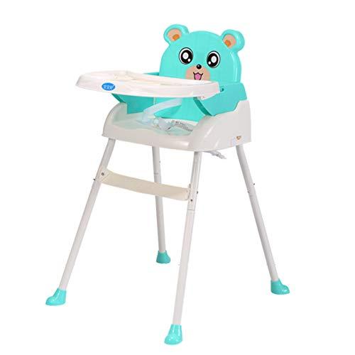 OMVOVSO Kinderhochstuhl Baby,Essstuhl Sitzerhöhung Treppenhochstuhl Klappbarer Tragbarer Babystuhl,Grün