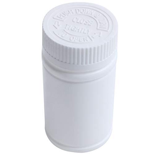 SYUN Plastic Empty Medicine Bottles Pill Tablet Container Holder 3pcs White