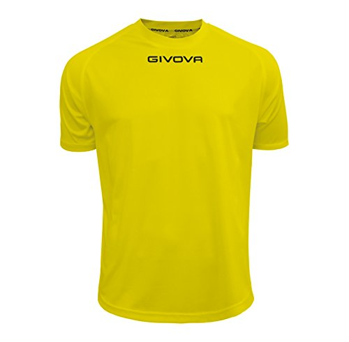 Givova MAC01, Maglietta Unisex Adulto, Giallo, S