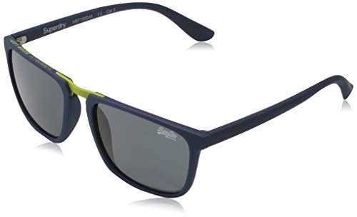 Superdry Mens Maverick Sunglasses, Rubberised Navy, One Size
