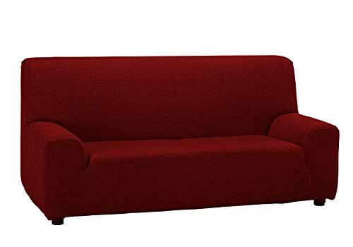 Martina Home Sofabezug, 3-sitzig, Beige/Rot, 180-240 cm