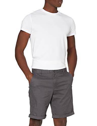 Amazon-Marke: MERAKI Herren Chino-Shorts aus Baumwolle Regular Fit, Kohlegrau, L