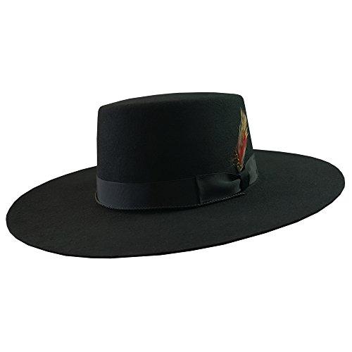 DelMonico Bolero Hat-Black-Medium