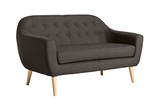 Max Winzer Sofa 2-Sitzer Kelly | Aus Holz/Polyätherschaum | Braun