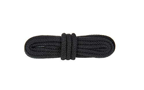 WorkerWalker Runde Schnürsenkel für Sicherheitsschuhe, aus strapazierfähiger Modacryl-Baumwollfasermischung, STR Laces PRO, 1 Paar (91 - Schwarz/90 cm - 35 inch)