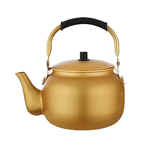Cafetera para acampar, hervidor de té para estufa, hervidor de té retro clásico, mango ergonómico resistente al calor, las mejores teteras de gas para el hogar ( Color : Amarillo , tamaño : 8L )