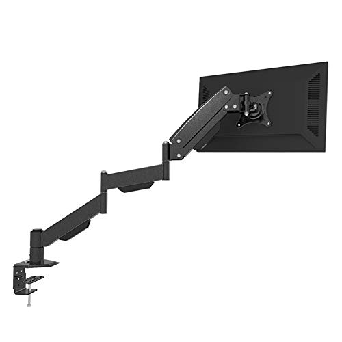 690 mm verlengde cantileverarm Kantelbare draaibare tv-muurbeugel - 180 ° kantelbare en draaibare schermen Luchtdruk zwevend rek voor 22,3-35,4 inch monitoren