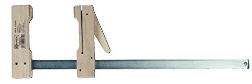 Connex COX863004 Holzklemmzwinge, Rotbuche, Stahlschiene, stufenlos verstellbar, Spannweite 400 mm, Ausladung 110 mm