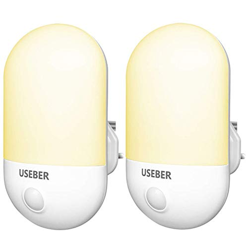 Plug in LED Night Light, [2 Pack] Useber Night Lights with Dusk to Dawn...