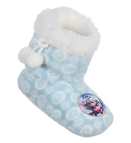 Eiskönigin Frozen Stiefel Hausschuhe Teddyfell rutschfeste Sohle Gr.25 26 27 28 29 30 31 32 weich und warm (31/32, Sky)