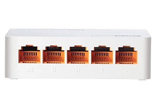 TOTOLINK 5-Port Fast Ethernet Unmanaged Network Switch, Ethernet Splitter, Ethernet Hub, Plug and Play, Fanless, Quiet (S505) (5-Port, Fast Ethernet)
