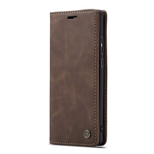 JMstore hülle kompatibel mit Xiaomi Redmi K30 Pro/Poco F2 Pro, Leder Flip Schutzhülle Brieftasche Handyhülle mit Kreditkarten Standfunktion (Kaffee)