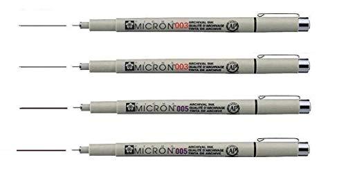 Sakura Pigma Micron SEPIA - Pigmento fineliners,set 4pcs, 003 .003. 005. 005