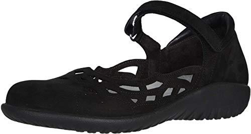 NAOT Footwear Women's Agathis Maryjane Black Velvet Nubuck 10 M US