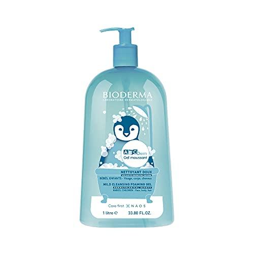 Bioderma - Abcderm - Nettoyant doux - Bébés, enfants - Pour corps, visage et cheveux - 1 L