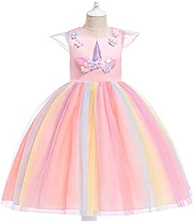 Baby Girls Unicorn Tutu Dress Princess Fancy Dress Kids Birthday Party Dresses Girls Christmas Halloween Cosplay Princess ...