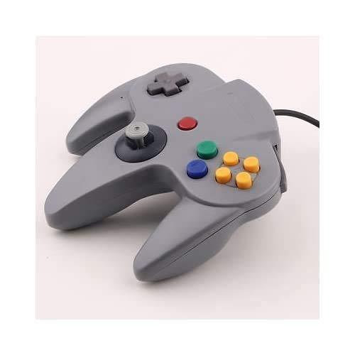 Mando de juego largo para Nintendo 64, color gris
